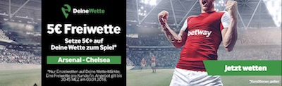 Betway Freiwette zu Arsenal gegen Chelsea