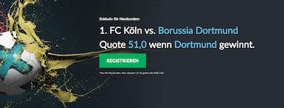 Betvictor Quotenboost zu Köln gegen Dortmund