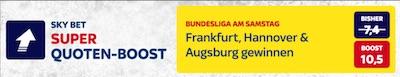 Skybet Quotenboost zur 18. Bundesliga Runde