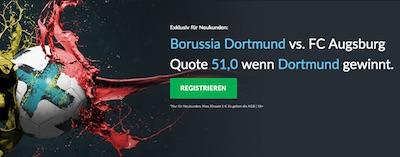 Quotenboost zu BVB-Augsburg bei BetVictor