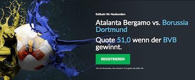 BetVictor: 51.0 auf BVB-Sieg in Bergamo