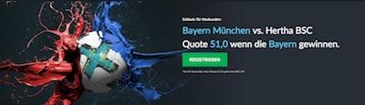 Bayern München gegen Hertha BSC Berlin bei Betvictor