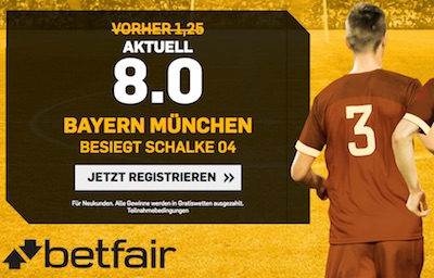 8er Quote auf Bayern bei Betfair