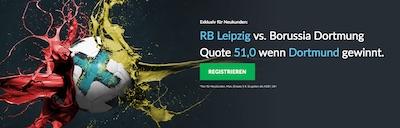 Betvictor Quotenboost zu Leipzig gegen Dortmund