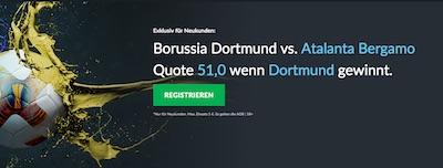 Borussia Dortmund gegen Atalanta Bergamo bei Betvictor