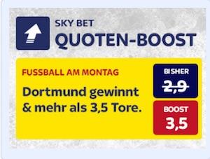Skybet Quotenboost zu Dortmund gegen Augsburg