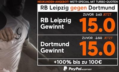15.0 auf Leipzig und BVB bei 888sport