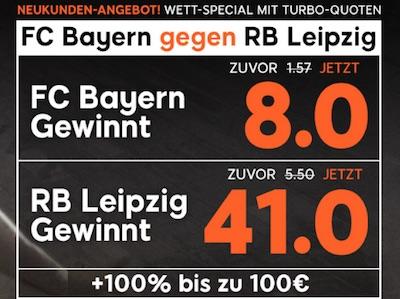 888sport Quotenboost zu Bayern gegen Leipzig