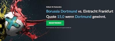 BetVictor Quotenboost zu BVB-Frankfurt