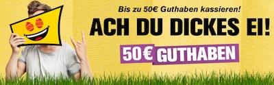 Bis zu 50 Euro bei Interwetten Promo zu Ostern