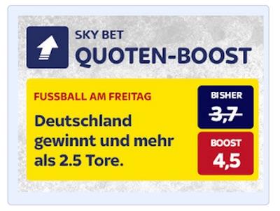 Quotenboost von SkyBet zu Deutschland-Spanien