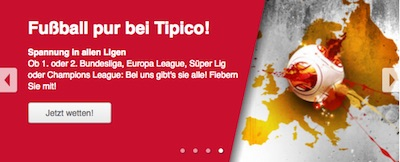 Das Fußball Wettangebot von Tipico
