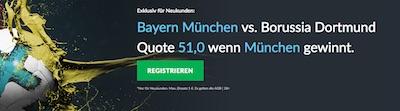 Bayern Muenchen gegen Borussia Dortmund Quotenboost bei Betvictor