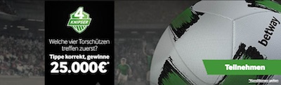 Betway Vier Knipser Promotion