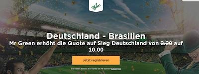 Mr Green erhöhte Quoten Deutschland Brasilien