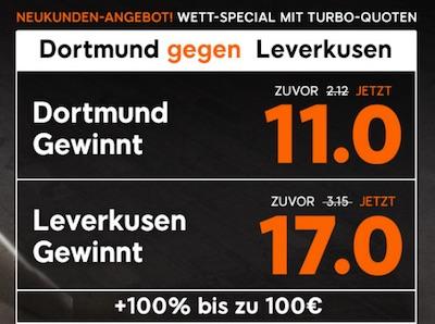 888sport Quotenboost zu Borussia Dortmund gegen Bayer Leverkusen