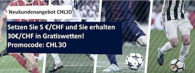 Promo zum CL-Viertelfinale bei William Hill
