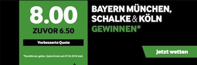 Betway Quotenboost zur Bundesliga am 29. Spieltag