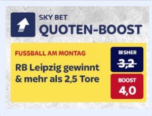 Skybet Quotenboost zu Leipzig gegen Leverkusen