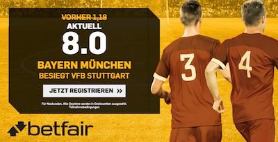 Betfair: 8.0 wenn Bayern den VfB besiegt