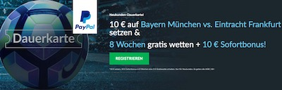 Betvictor Dauerkarte DFB Pokal Bayern Frankfurt
