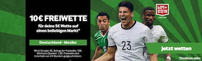 WM Sepcial von Betway zu Deutschland Mexiko