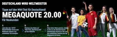 Sportingbet Quoten Aktion auf deutschen WM-Titel