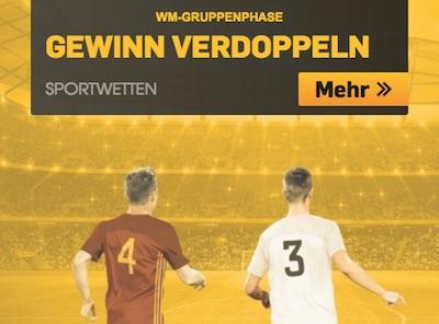 WM-Gruppenphase: Verdopple bei Betfair deinen Gewinn