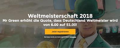 Deutschland Weltmeisterschaft Bonus Mr Green