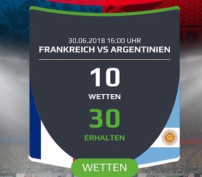 Frankreich gegen Argentinien Netbet Promotion