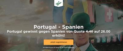 Portugal gegen Spanien Quotenboost bei Mr. Green