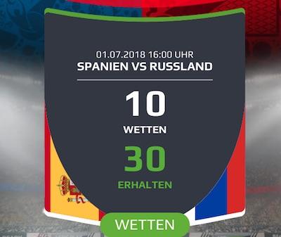 Spanien gegen Russland Netbet Promotion