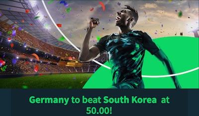 Sportsbet.io Quotenboost zu Südkorea vs. Deutschland