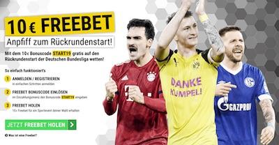 10€ Freebet von Cashpoint zum Rückrundenstart der Bundesliga