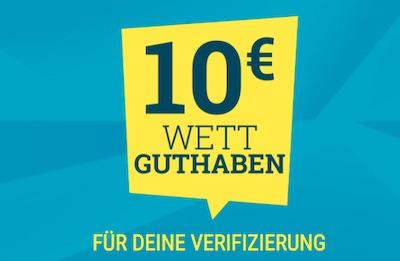 10€ Verifizierungsbonus bei Sportwetten.de