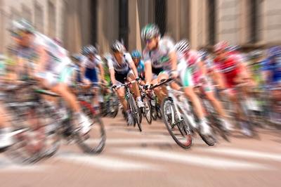 Das Peloton bei der Tour de France