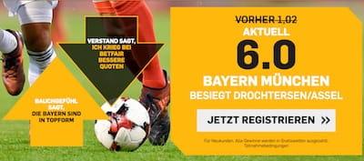 Betfair mit erhöhter Quote auf Bayern im DFB Pokal