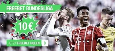 10 Euro Freiwetten von Cashpoint zum Bundesliga Start
