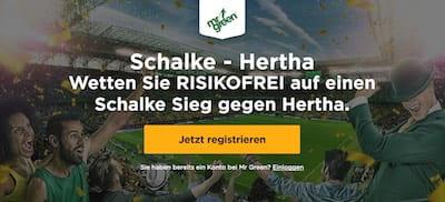 Mr Green mit Wette ohne Risiko auf Schalke vs Hertha