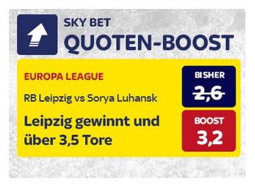 SkyBet Quotenboost zum EL Spiel von RB Leipzig