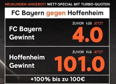 Bayern gegen Hoffenheim 888sport Quotenboost