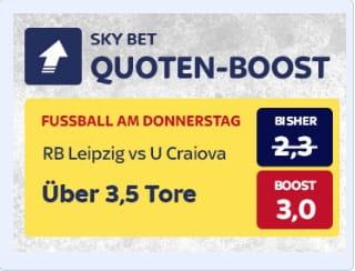 Leipzig gegen Craiova Quotenboost bei Skybet