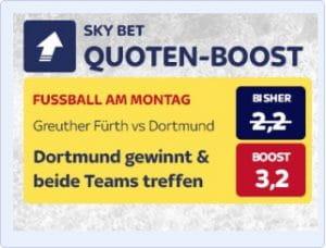 Skybet Quotenboost zu Greuther Fürth gegen Borussia Dortmund