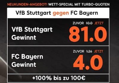 Stuttgart gegen Bayern Quotenboost bei 888sport