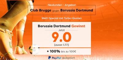 888sport: 9er-Quote auf BVB besiegt Brügge