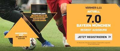 Betfair Quotenboost zu Bayern München gegen Augsburg