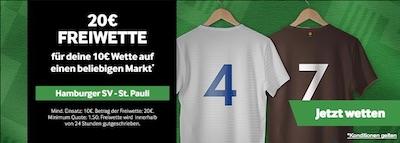 Betway Freebet zu HSV gegen St. Pauli