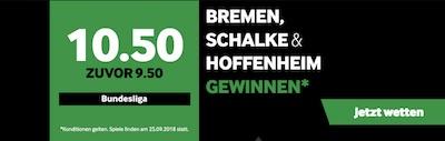 Betway Quotenboost zu fünften Runde der Bundesliga