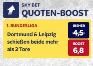 Dortmund und Leipzig Quotenboost bei Skybet