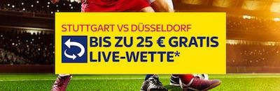 Sky Bet Live Gratiswetten Aktion zu VfB vs. Fortuna